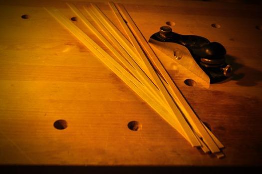 厚みと高さを揃えてライニング材の準備が整う